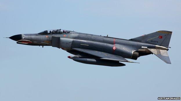 Turkish F-4 jet - file pic