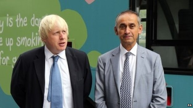 Boris Johnson and Lord Darzi
