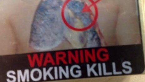 India cigarette pack warning