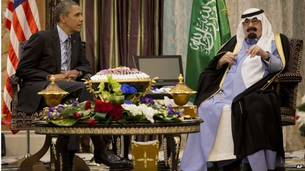 Barack Obama and Saudi King Abdullah (28/03/14)