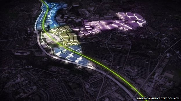 Stoke-on-Trent city leaders said running the line through Stoke-on-Trent would deliver benefits to more people