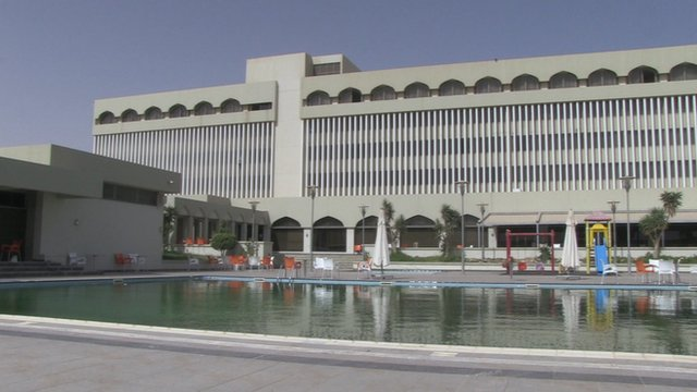 Hotel in Tobruk, Libya where Libyan government is currently based