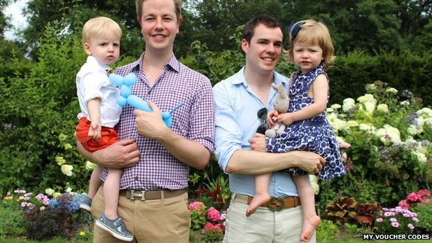 Mark Pearson and his partner Aaron with their surrogate twins