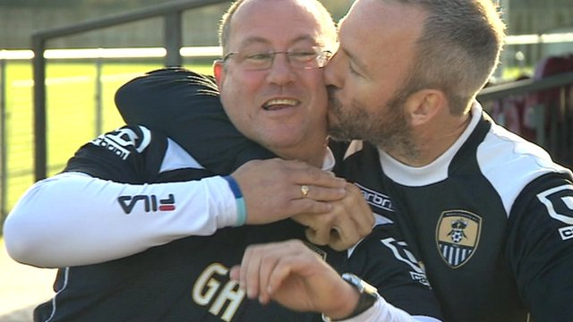 Notts County manager Shaun Derry (right) and assistant boss Greg Abbott