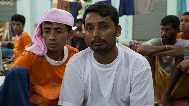 Absar Mia, a Bangladeshi human trafficking victim on October 2014
