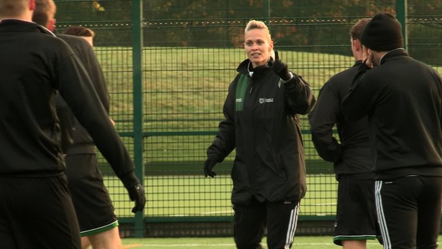 University of Stirling coach Shelley Kerr