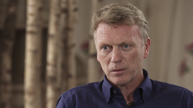 Former Manchester United manager David Moyes speaking to BBC Sport's Dan Roan