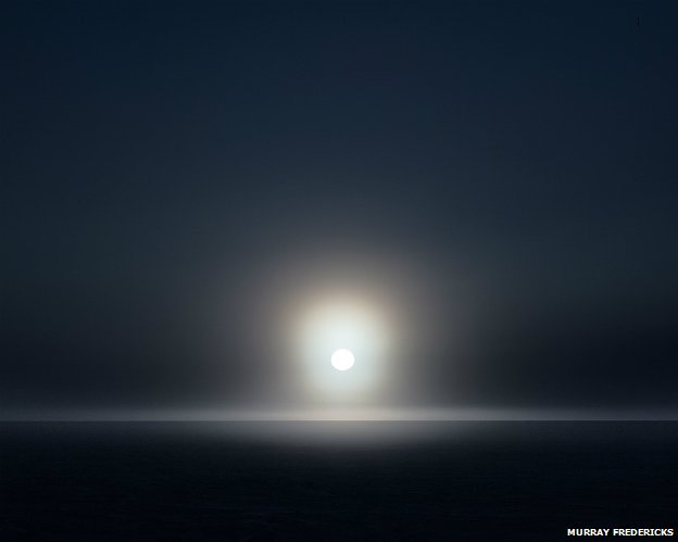 From Murray Fredericks' 'Topophilia' series: Icesheet #0712, late sun and fog - 2013