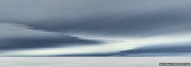From Murray Fredericks' 'Topophilia' series: Icesheet #2338, lenticular clouds - 2013