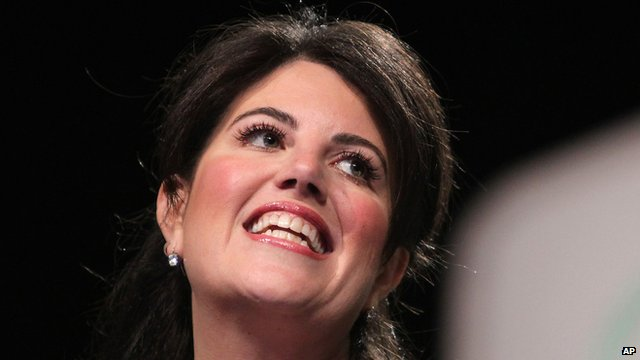 Monica Lewinsky pauses during her speech at the Forbes Under 30 Summit in Philadelphia