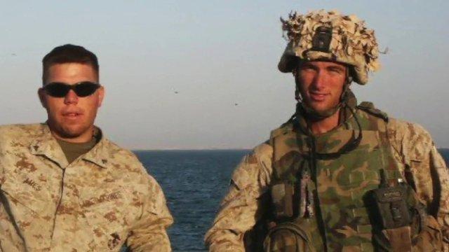 Elliot Ackerman and fellow US marine.