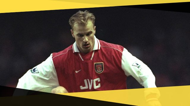 Arsenal's Dennis Bergkamp against Sunderland in the 1997 FA Cup