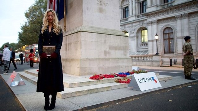 Joss Stone at the Cenotaph