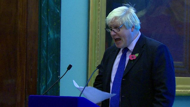Boris Johnson at Guido Fawkes event