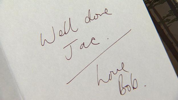 Handwritten note from Bob Lambert