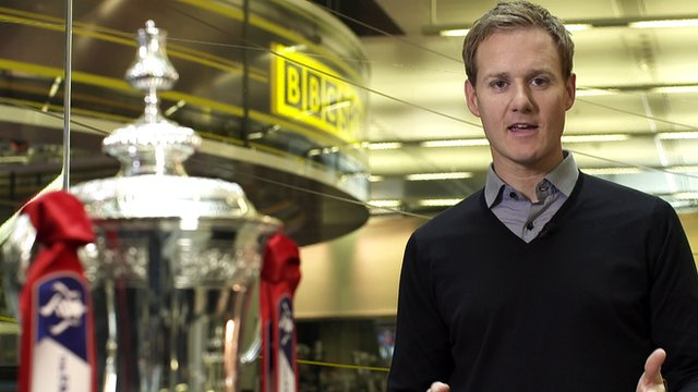 BBC Sport's Dan Walker with the FA Cup