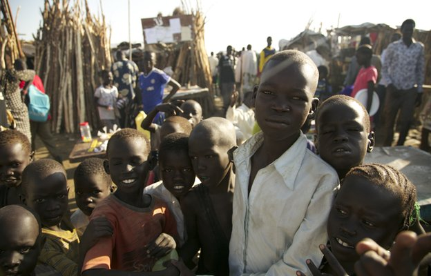 Children in South Sudan, October 2014