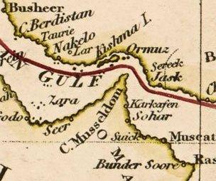 The Musandam peninsula and Strait of Hormuz