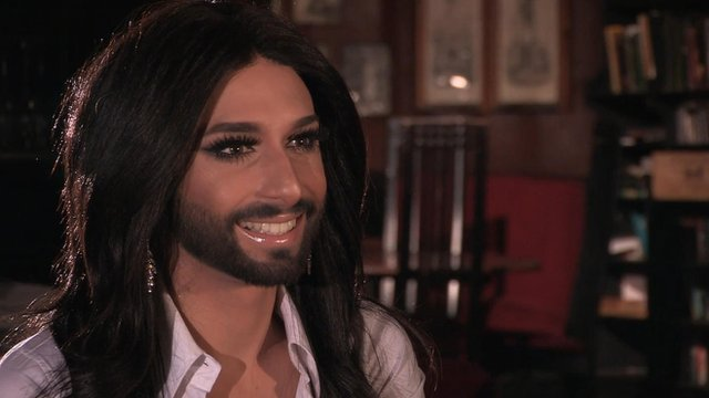 Bearded drag queen Conchita Wurst talks