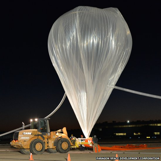 Balloon module in New Mexico on 24 October 2014
