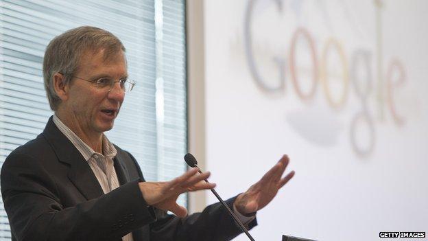 Google Senior Vice President of Engineering and Research Alan Eustace speaks during the grand opening of Google Kirkland on 28 October 2009 in Kirkland, Washington.