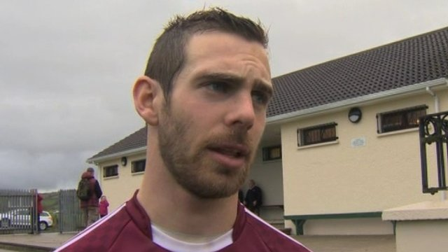 Neil McManus hit 1-6 for Cushendall in their 2-10 to 0-10 replay win over Slaughtneil