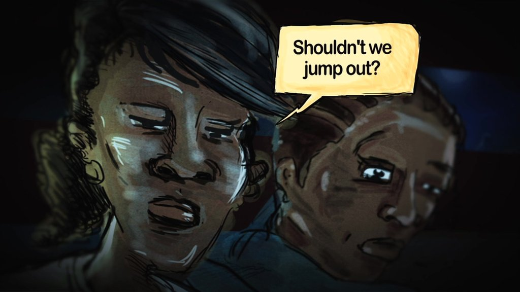 Two abducted girls debate whether to flee Boko Haram kidnappers