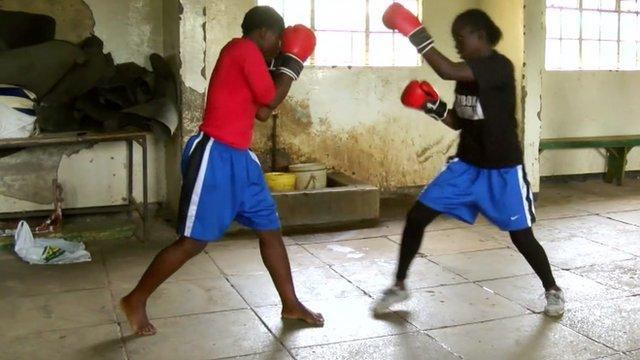Kenyan girls box