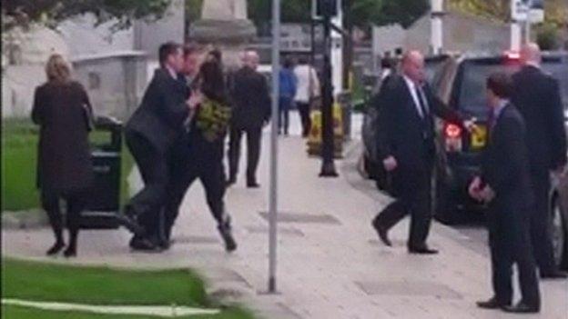Man runs into PM