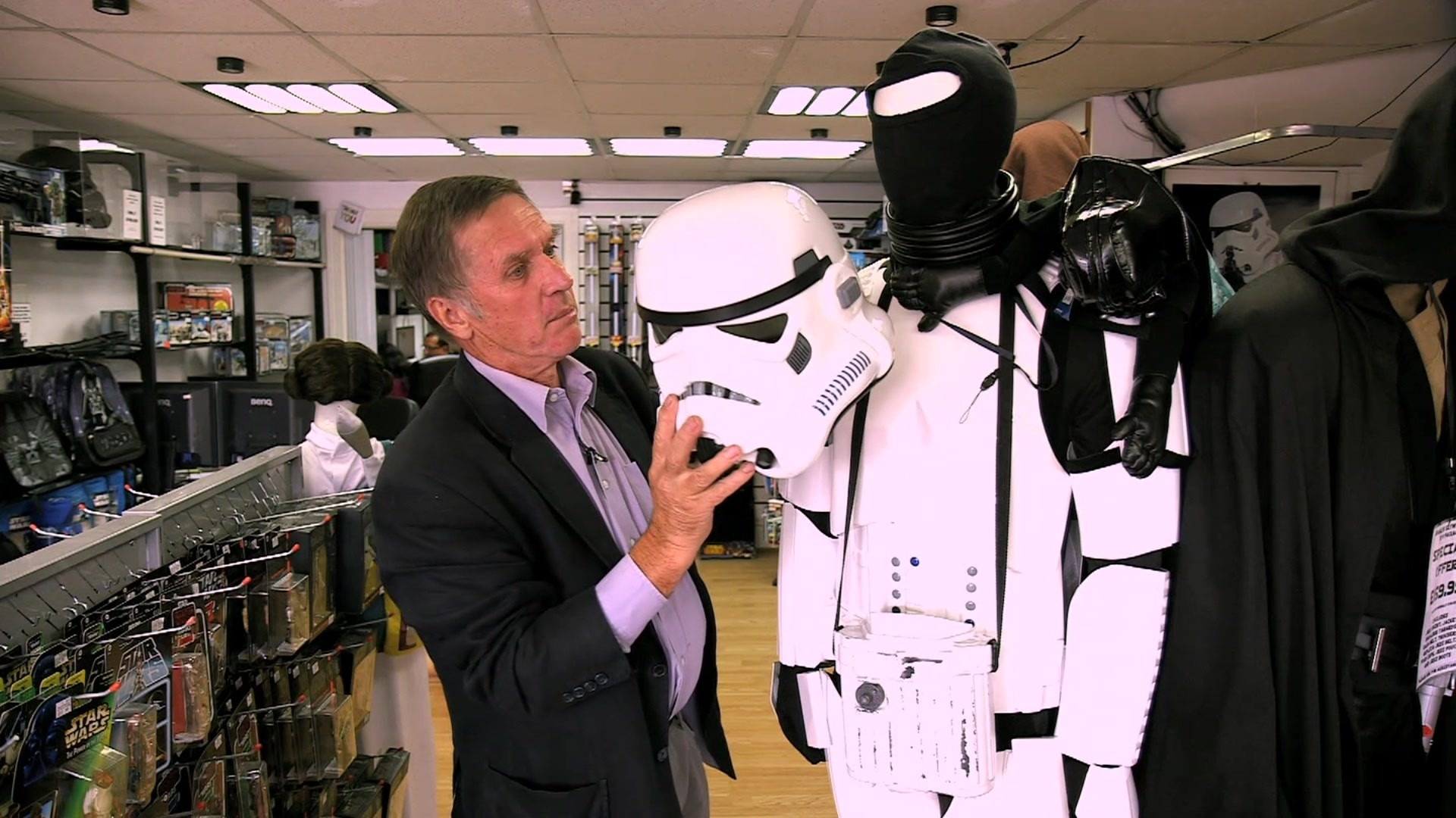 Laurie Goode with a Stormtrooper outfit
