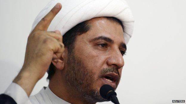 General-Secretary of Al Wefaq, Ali Salman speaks in Manama, Bahrain on 11 October 2014