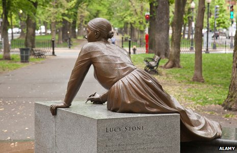 Lucy Stone in the Boston Women's Memorial