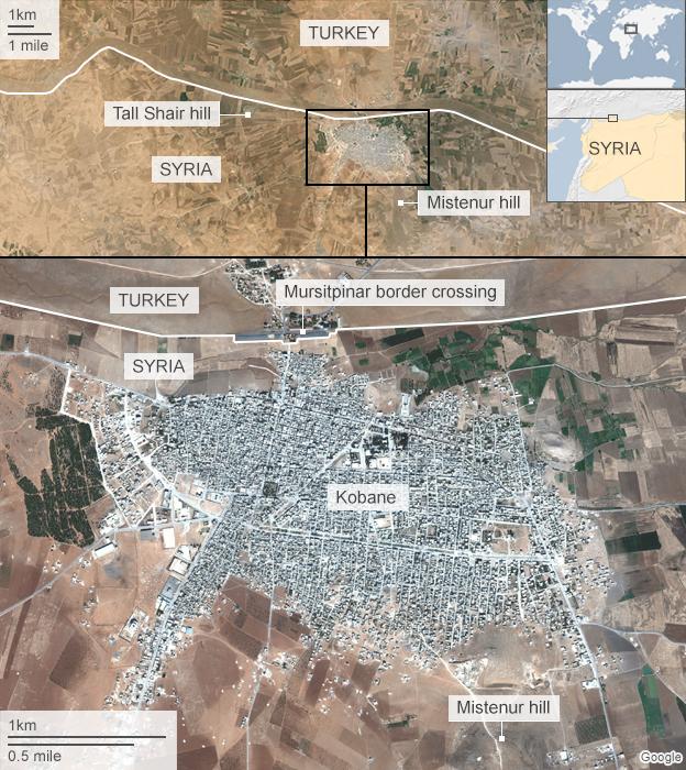 Kobane map