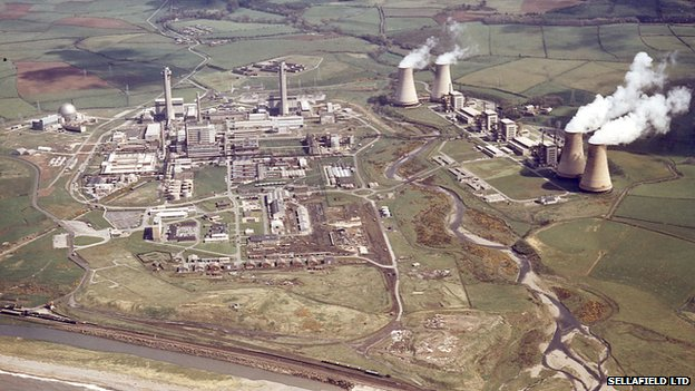 An aerial shot of Sellafield