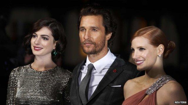 Anne Hathaway, Matthew McConaughey, Jessica Chastain