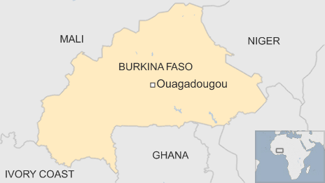 Map showing Burkina Faso