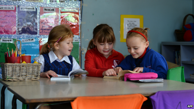 Students in a classroom at a school in the Coogee suburb of Sydney - 17 June 2013