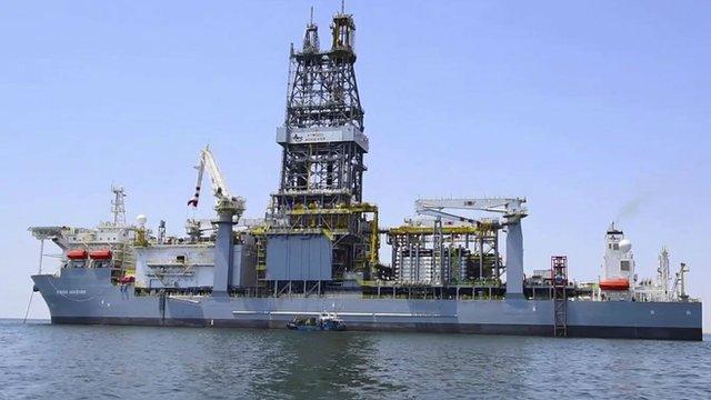 Kosmos Energy chartered oil rig