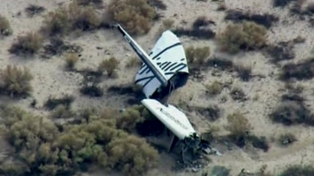 Part of wreckage of Virgin's SpaceShipTwo