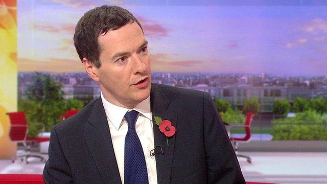 Chancellor George Osborne on BBC Breakfast