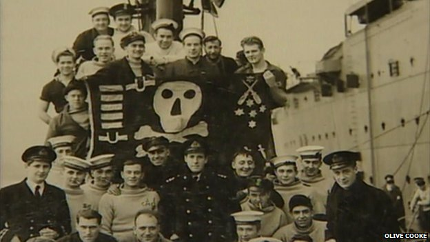 Leslie Hussey-Yeo and fellow sailors
