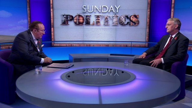 Andrew Neil and Hilary Benn