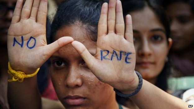 An anti-rape protest in Delhi