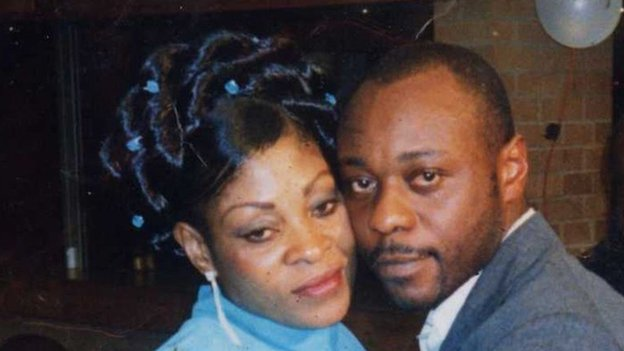 Jimmy Mubenga with his wife Adrienne Makenda Kambana