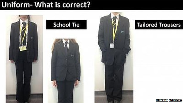Uniform which pupils are allowed to wear