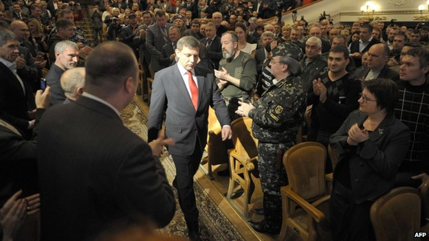 Alexander Zakharchenko is inaugurated president of the Donetsk People's Republic, 4 Nov