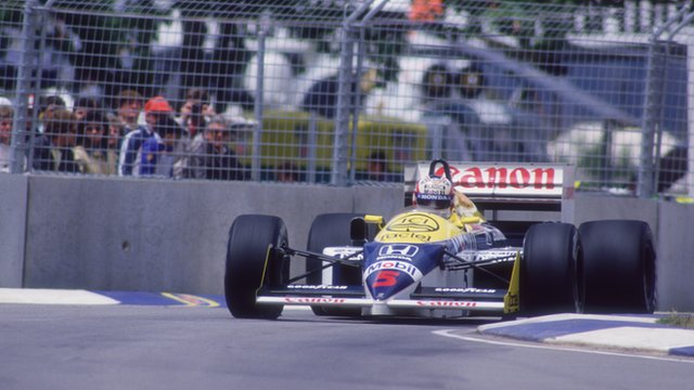 Nigel Mansell drives in the 1986 Australian Grand Prix