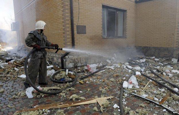 Shelling in Donetsk (5 Nov)