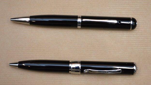 The pen used by Myles Bradbury