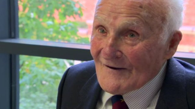 Martin Charters was presented with a Bomber Command clasp to wear on the ribbon of his war medal